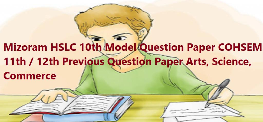 Manipur 12th Model Paper