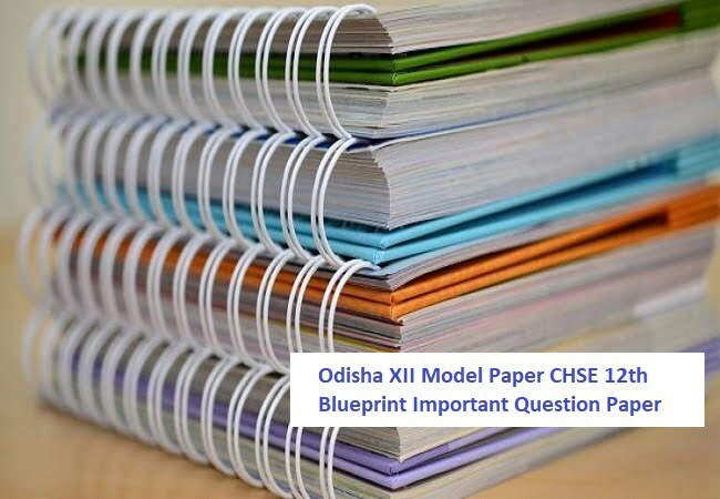 Odisha 12th Previous Question Paper 2020  CHSE +2 Model Question Paper 2020